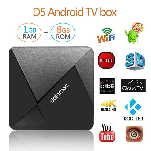 US $29 88  Dolamee D5 TV Box Rockchip RK3229 Quad core Set Top Box 1G/8G  Super Mini Android TV Box Streaming Media Payer with WIFI and KODI-in  Set-top