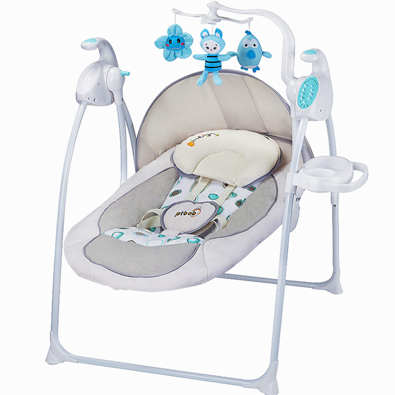 Auto Swing Character Ptbab Baby Rocking Chair Electric Child Cradle