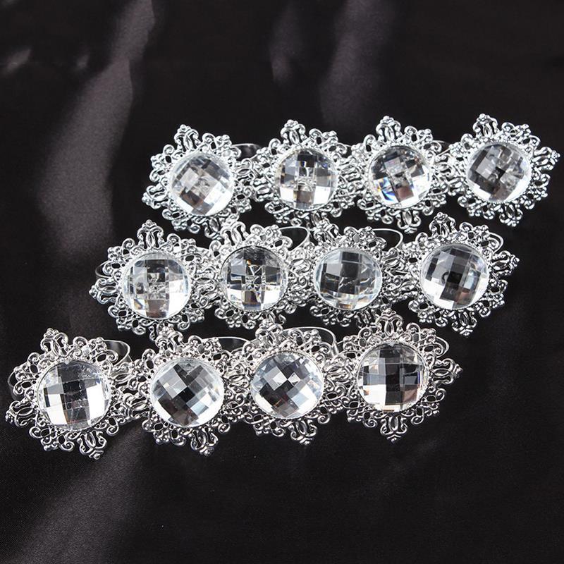 aliexpresscom buy 12pcs diamond napkin ring for table
