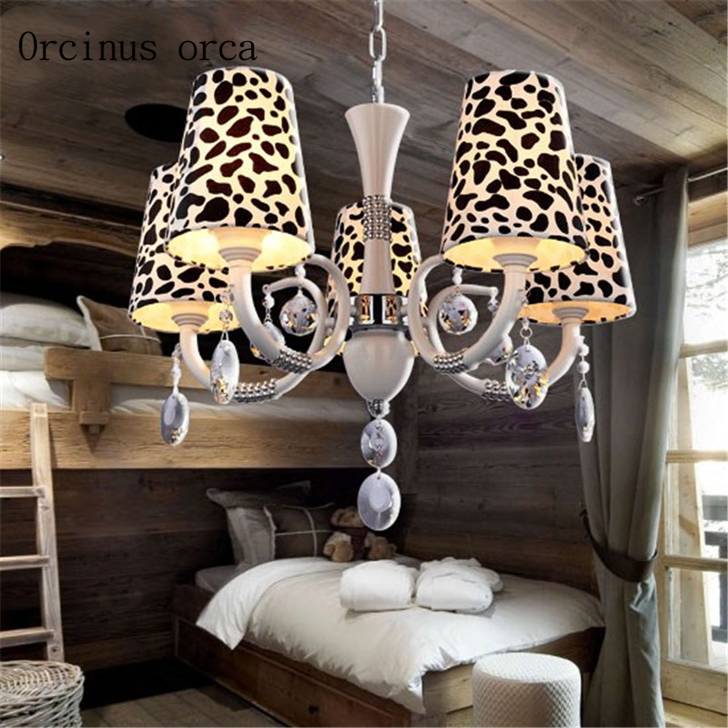 European creative Cow crystal chandelier living room children's room light modern simple LED decorative chandelier free shipping
