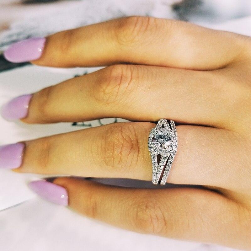a983fe106df1 JewelryPalace corazón Zirconia cúbico boda anillo de compromiso para las  mujeres Real 925 plata esterlina anillo