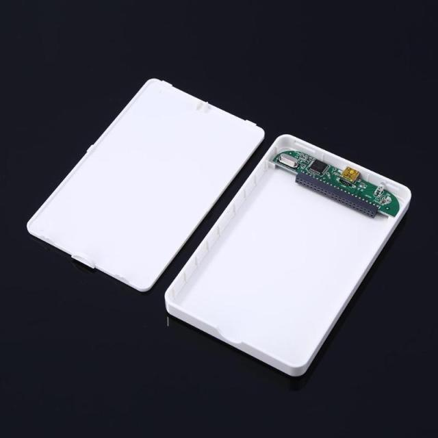 2.5in IDE Hard Disk Drive Enclosure USB 2.0 External HDD Case Box White for Win7/Win8/Win10 and for Mac OS 3