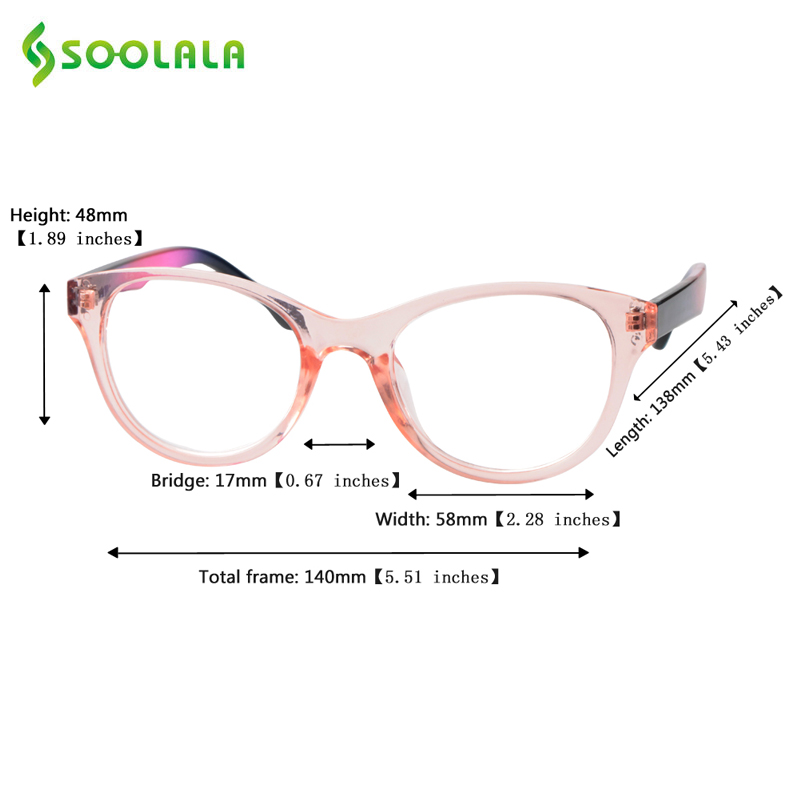 SOOLALA gran tamaño TR90 lectura gafas mujeres hombres marco claro ...