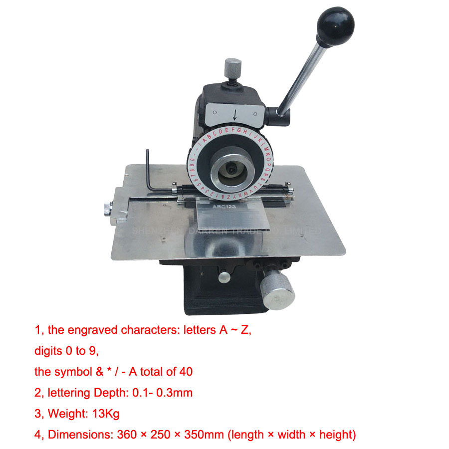 Manuale Macchina di Marcatura Targhetta di Alluminio, Rame, In Lamiera di Acciaio Macchina di Goffratura Strumento Plotter - 2