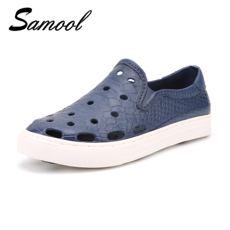 Casual Native summer man sandals Hollow Outdoor Jelly Garden Breathable hole Slip On male cool Flat Shoe men zapatos hombre1D1