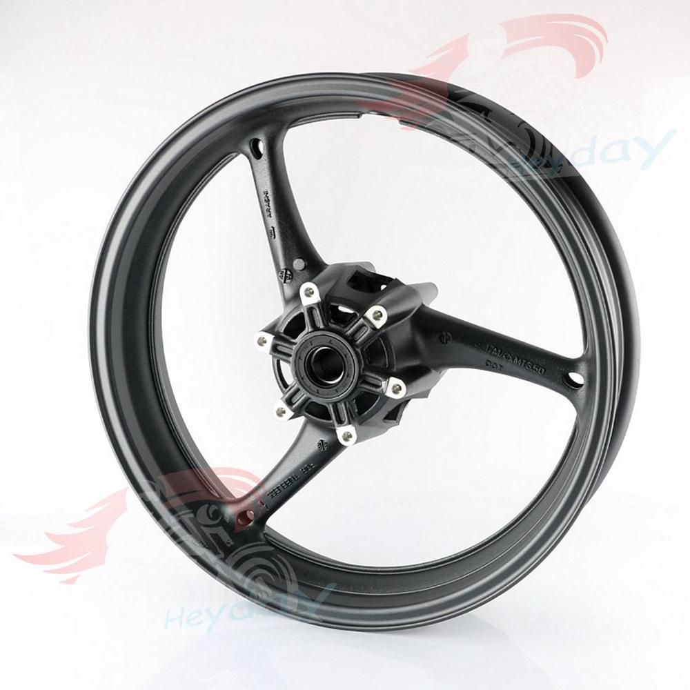 Motorcycle Alloy <font><b>Front</b></font> <font><b>Wheel</b></font> Rims For <font><b>Suzuki</b></font> <font><b>GSXR</b></font> <font><b>600</b></font> 750 2008 2009 2010 K8 & GSXR1000 2009 2010 2011 K9 Black image