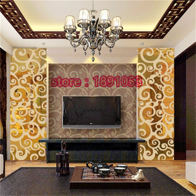 Cheap Stereoscopic 3D Clouds Element Bedroom Mirror Wall Stickers Living Room TV Sofa Backdrop Decorative