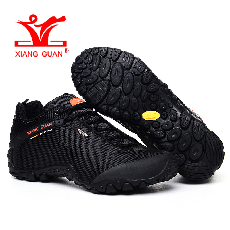 XIANG GUAN Man Hiking Shoes Men Athletic Trekking Boots Black Green Zapatillas Sport Climbing Hike Shoe Outdoor Walking Sneakers цена
