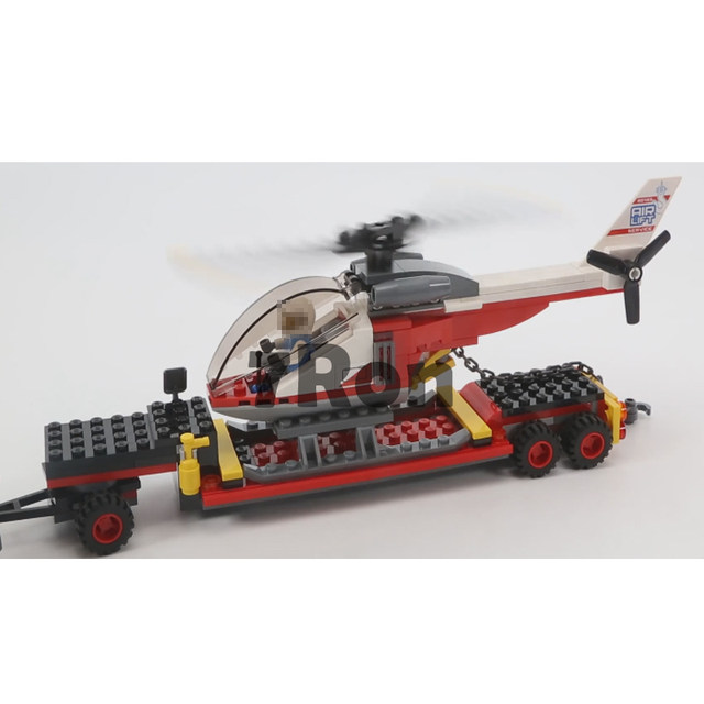 02094 Heavy Cargo Transport Truck Building Blocks Compatible with Lego City  60183 Great Vehicles Model Bricks Plane Toys