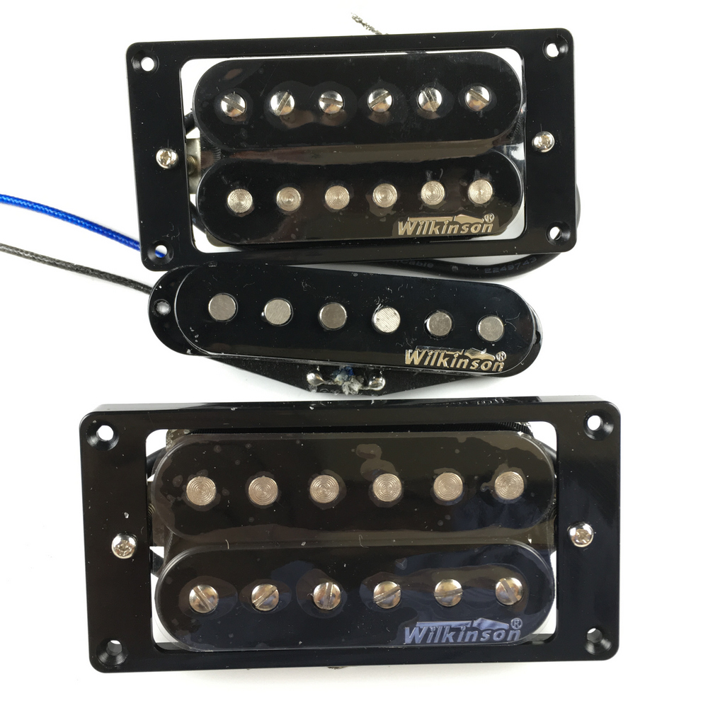 NEW Wilkinson Humbueker Double Row Open Electric Guitar Humbueker Pickups Set Black Made IN Korea free shipping new st electric guitar pickup in white 3s made in south korea art 31