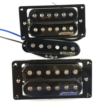 NEW Wilkinson Humbueker Double Row Open Electric Guitar Humbueker Pickups Set Black Made IN Korea electric guitar new lp custom shop electric guitar black beaty 3 pickups ebony fingerboard oem brand guitar in china