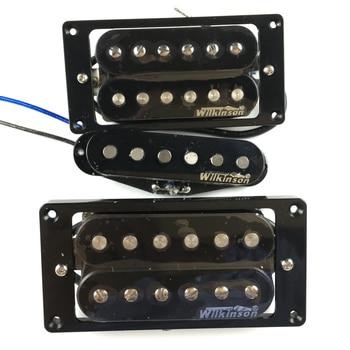 цена на NEW Wilkinson Humbueker Double Row Open Electric Guitar Humbueker Pickups Set Black Made IN Korea