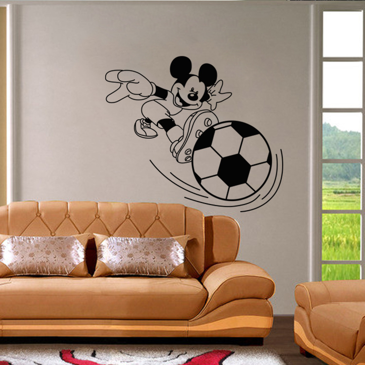 mickey mouse de juego de ftbol d del efecto de pared cartel de la pared