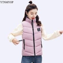 YTNMYOP женский пуховый хлопковый жилет Зимний короткий жилет верхняя одежда без рукавов утепленная теплая куртка пальто размера плюс 4XL