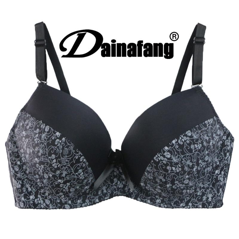 DaiNaFang новые сексуальные бюстгальтеры на четверть, женский бюстгальтер с цветочным принтом и чашкой пуш-ап, нижнее белье большого размера, же...