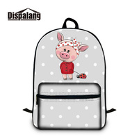 Hot Beauty Brands Schoolbag for 12 inch i pad Pig Patterns on Cotton Laptop Backpacks for Students Newfangled Show Girls Style