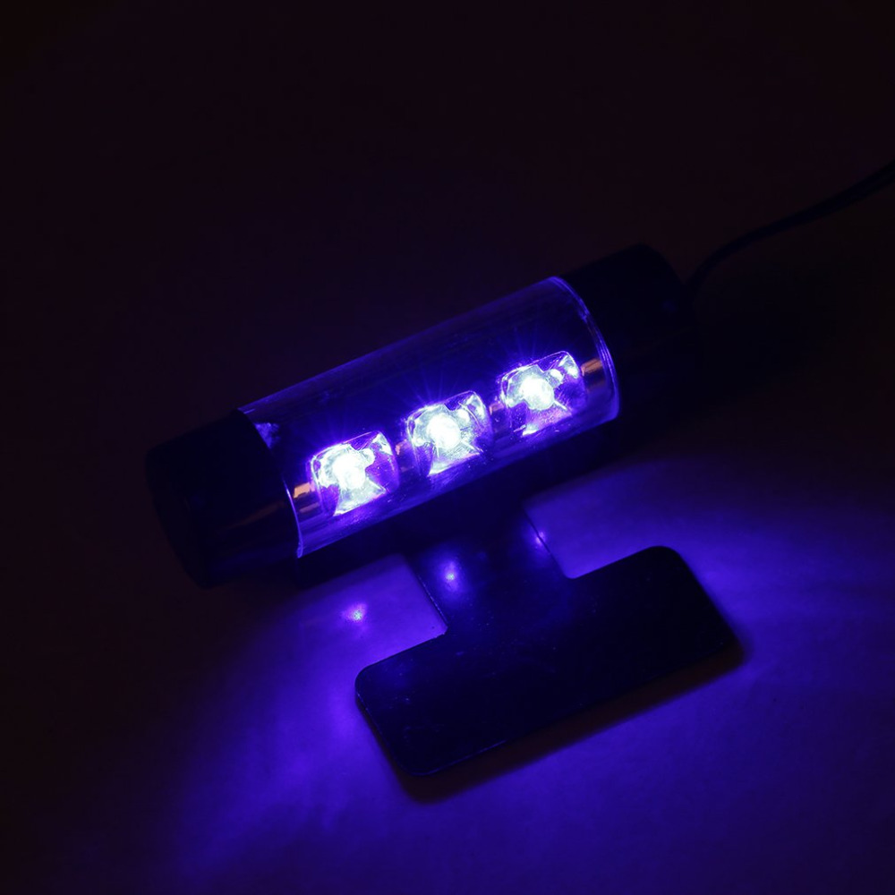 Auto Interior light 3LED Car Charge 12V 4W Glow Interior Decorative 4in1 Atmosphere Blue Light Lamp Atmosphere inside foot lamp high quality 4pcs 3 led universal car accessory glow interior decorative atmosphere light purple orange lamp