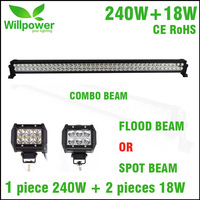 PROMOTION ITEMS truck 42 inch 240W 52inch 300W led light bar offroad 2 pack led work light 4inch 18w flood beam