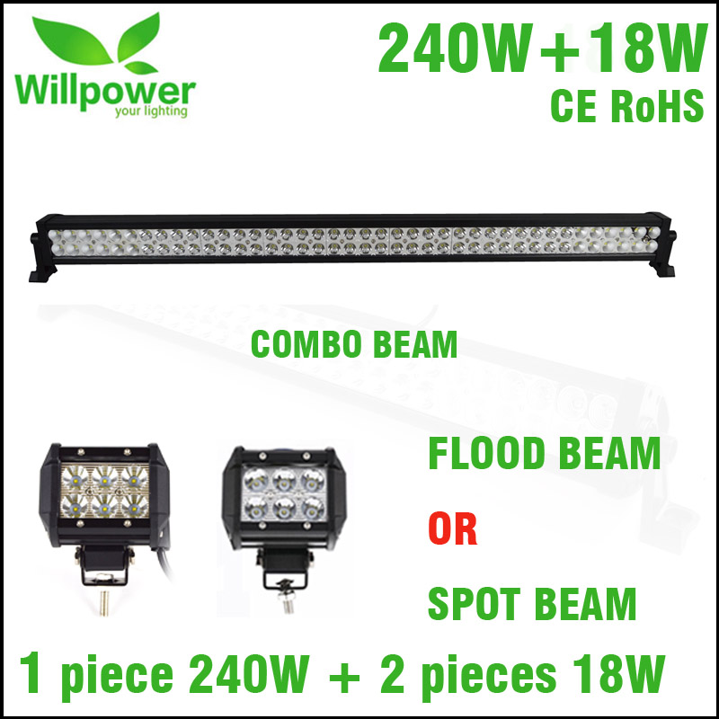 PROMOTION ITEMS truck 42 inch 240W led light bar offroad 2 pack led work light 4inch 18w flood beam