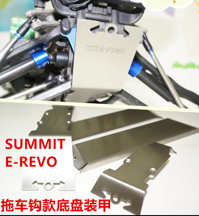rc part stainless steel skid plate chassis armor protection for 1/10 Traxxas Revo E-Revo Summit 1 set arm ends rod ends with hollow balls 1 10 e revo summit for delta rostock kossel mini 3d printer traxxas revo 5347