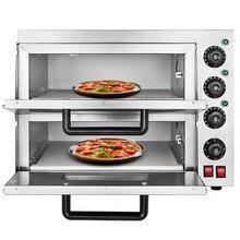 Коммерческая 3000 Вт электрическая печь для пиццы двухслойная машина для выпечки 220 В/50 Гц