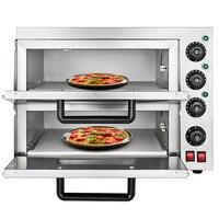 التجاري 3000 W فرن البيتزا الكهربائية مزدوجة طبقات الخبز آلة 220 V/50Hz