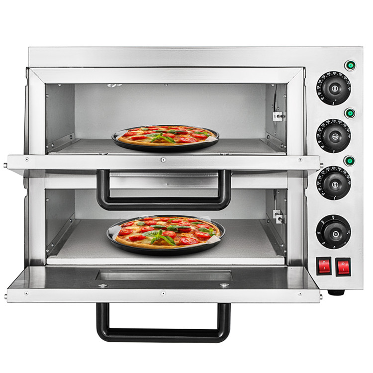 Commercial 3000 W Electric Pizza Oven Double Layers Baking Machine 220V/50Hz|Manual Burger Press Machines| |  - title=