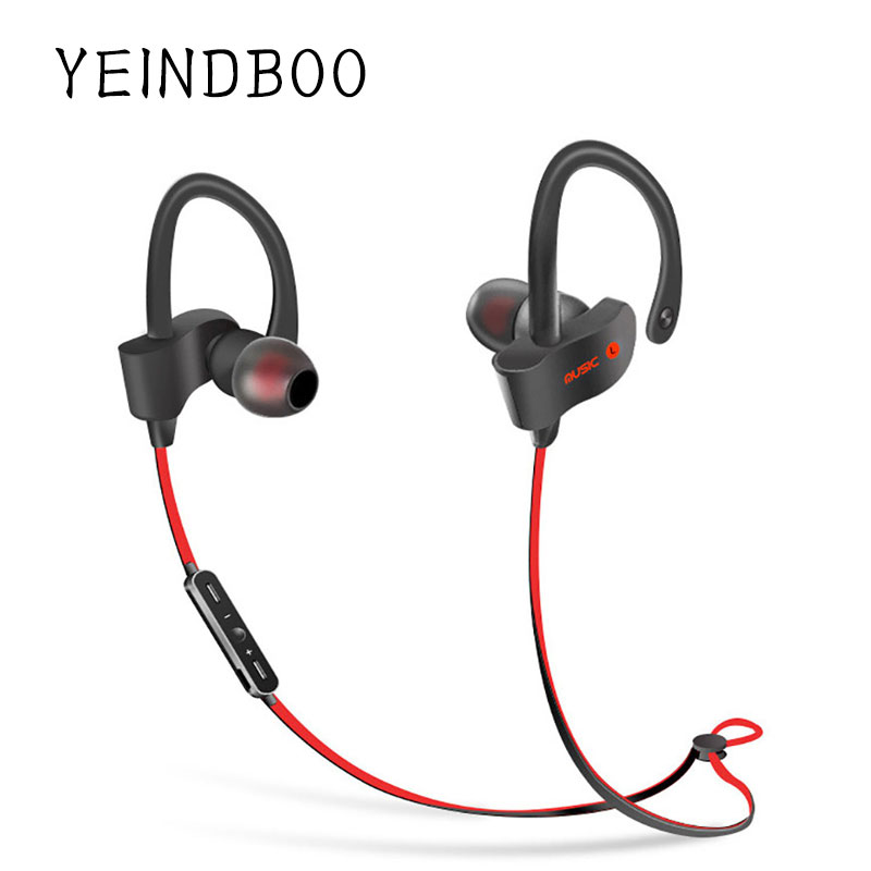 YEINDBOO Sports In-Ear Wireless Bluetooth Earphone Stereo Earbuds Headset Bass Earphones with Mic for iPhone 6 Samsung Phone