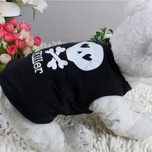 Summer Cat Clothes Vest Black Dog Vest  Clothes for Small Dog Puppy T-Shirt Coat Dog Clothes XS M L Pet Supplies