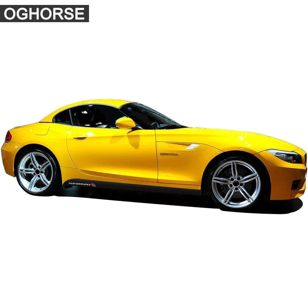 Pegatinas de vinilo de 2 uds. M para rendimiento deportivo, faldón lateral, alféizar y rayas para BMW Z4 E85 E86 E89 5D, accesorios de vinilo de fibra de carbono