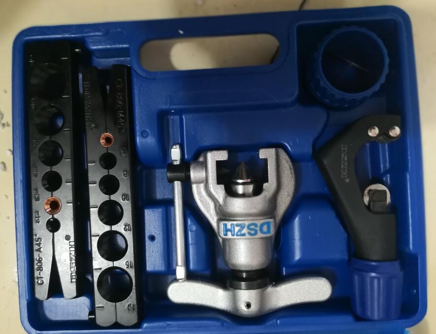 CT-808 metrica e pollici tubo expander kit aria condizionata tubo di rame tubo alesatore tubo svasatura strumento 6-19mm 1/4-3/4 inch