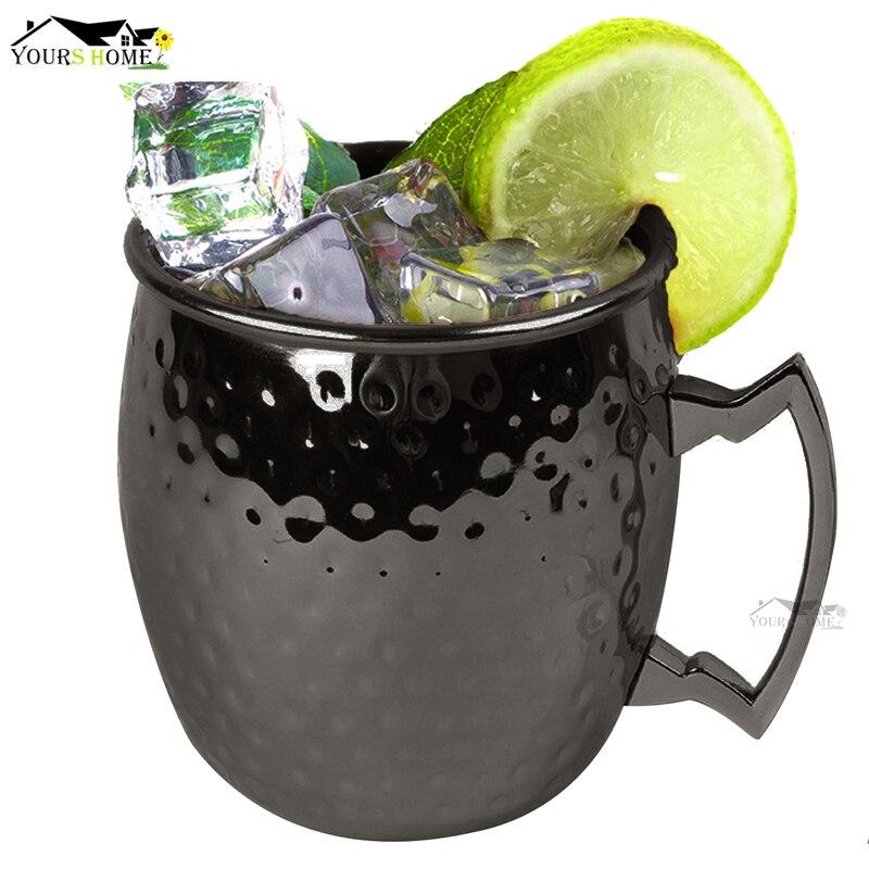 12 stück Moscow Mule Trinken Becher Glas Gehämmert Rotguss Schwarz Bar Becher Trinken Tasse Moskau Tassen-in Tassen aus Heim und Garten bei  Gruppe 2