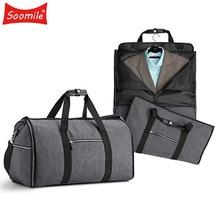2 en 1 bolsa de viaje para el juego Duffle bag prenda impermeable cremallera bolsa Durable Big Men viaje de negocios bolsa de viaje organizador de equipaje