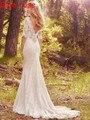 Boho Beach Wedding Dresses Vestido de Noiva vestido de Novia Medias Mangas Backless Bohemio Vestido de Novia Blush Tren