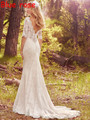 Vestido de Noiva Boho Beach Wedding Dresses Bridal Gown Half Sleeves Backless Bohemian Wedding Dress Blush Train