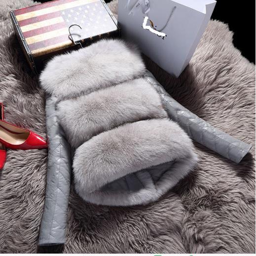 Femmes Z192 Femme Faux 2018 Outwear Furry Manteau Artificielle Veste De La Taille Fourrure Plus Hiver vm0wN8n