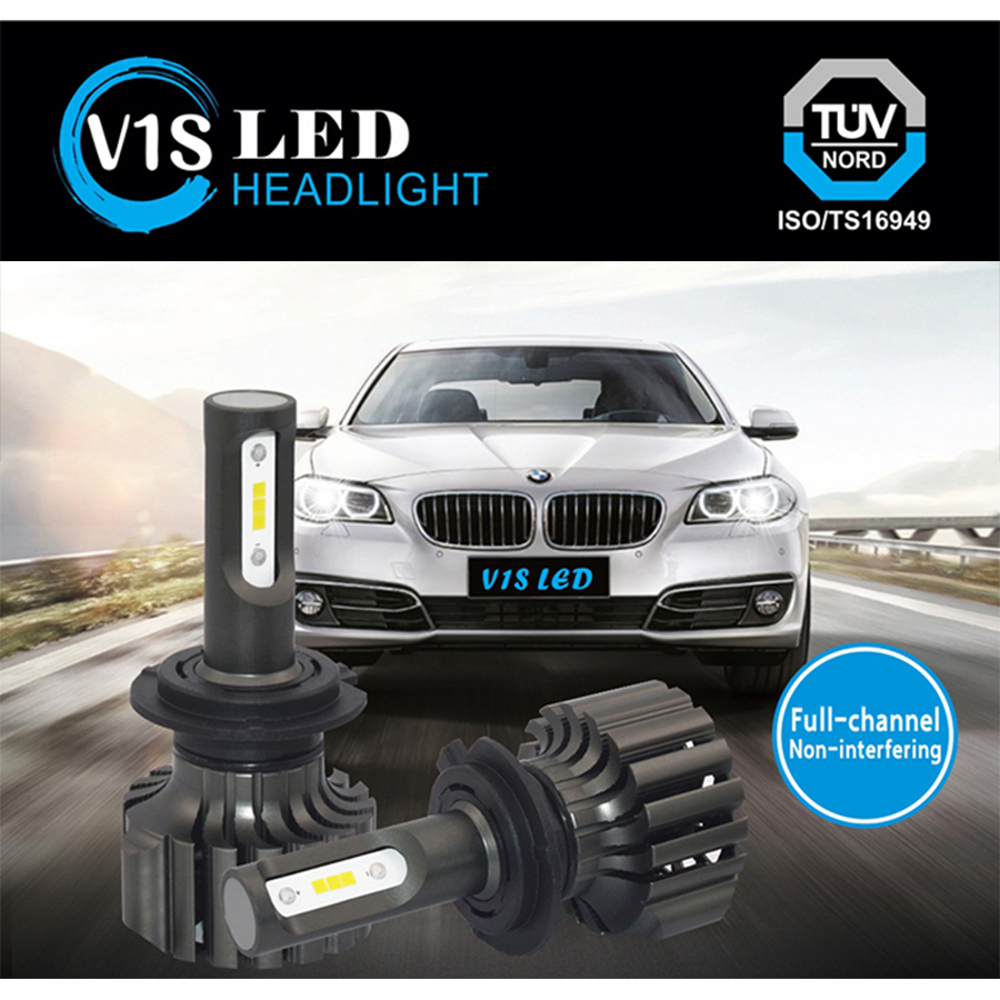 2PCS car Headlight lights H7 LED bulbs H8 H11 H10 H16 9012 P13W PSX24W D1 D2