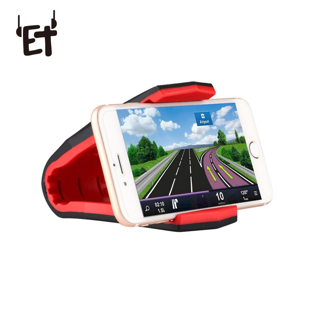 ET Supporto Del Telefono Dell'automobile Coccodrillo Titolari di Cellulare Del Cruscotto Phone Supporto del basamento Anti Slip GPS Staffa per il iphone 6 7 8 più