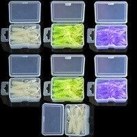 70 Pcs 7 Cases Soft Plastic Fishing Lures Shrimp Swim Bait With Portable Case