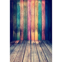 Laeacco Colorful Wooden Boards Baby Portrait Stage Scenic Photography Backgrounds Custom Photographic Backdrops For Photo Studio custom vinyl print cloth castle ladder photography backdrops for wedding stage photo studio portrait backgrounds props s 836