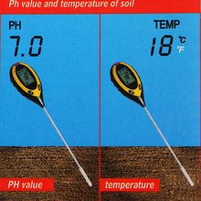 Soil Meter Thermometer 4 in 1 Plant Soil PH Moisture Light Soil Survey Instrument PH Value