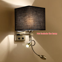 Unique Design Modern LED Cloth Wall Lamp Wall sconce Light Hallway Bedroom Bedside Light flaxen/black/white