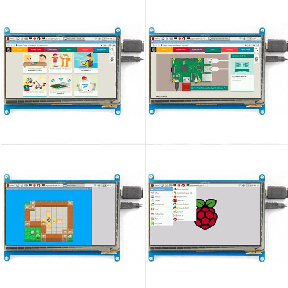 Rev2.1 Original 7 pouces LCD écran Module capacitif tactile pour framboise affichage Ultra clair pour framboise tarte 1024X600