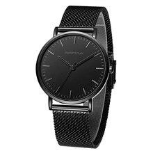 Relogios Masculinos бренд мужской ремень Водонепроницаемый пару моделей ультра-тонкие женские часы Relojes Hombre 2018 Montre Hommes кварцевые