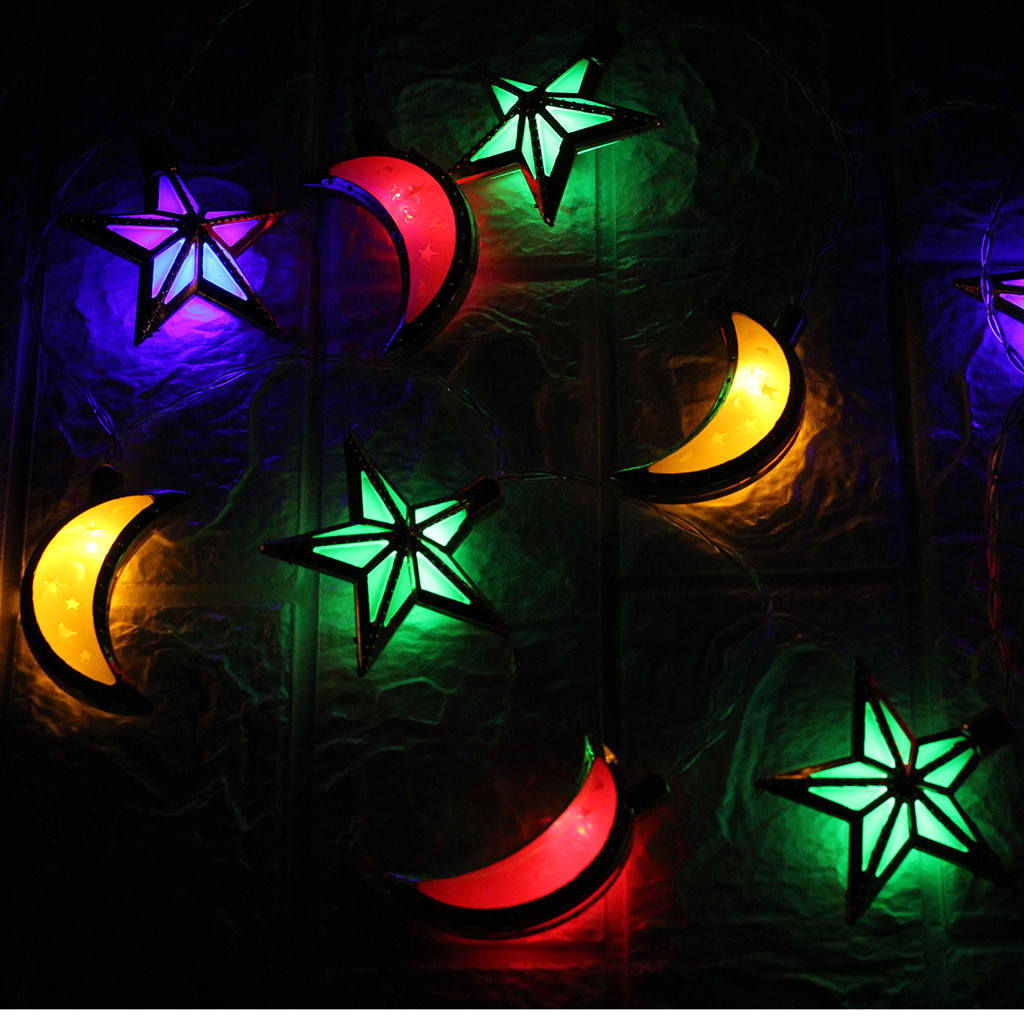 Рамадан и Eid Декор огни Светодиодный свет Главная фестиваль вечерние Фестиваль пользу приятно Строка Света просвечивающие нитка для украшения дома - Цвет: A