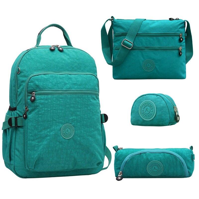(kaufen One Get Vier) Casual Zurück Zu Schule Taschen Teenager Rucksäcke Für Mädchen Für Schule Frauen Laptop Rucksack Schul Kiple