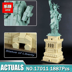 Lepin Architecture 17011 Model compatible Legoing 21042 Statue of Liberty Set Building Blocks Bricks Toys For Children Gift