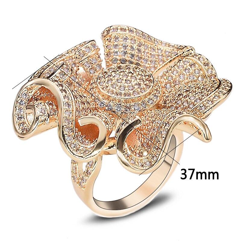 9e76b582cd6f Dolaime cúbico anillos para las mujeres sol tipo de Flor de Oro de moda  anillos de Color joyería bisutería venta al por mayor R631