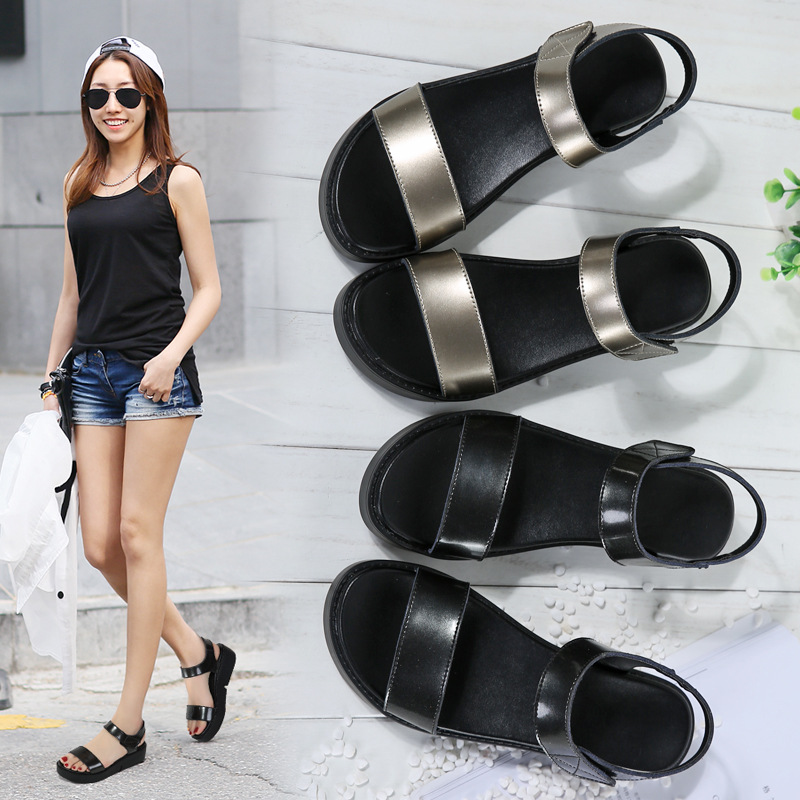 4171G new women's sandals thick-soled sandals women's leather increased ladies sandals cross-border 1