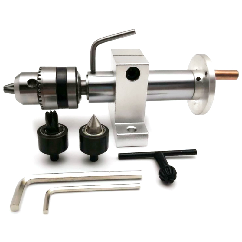 Promotion! Multifunction Drilling Tailstock Live Center With Claw For Mini Lathe Machine Revolving Centre DIY Accessories Wood